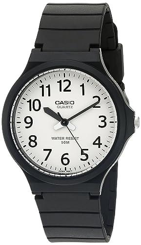 Casio Men s Easy To Read Quartz Black Casual Watch Model MW240-7BV