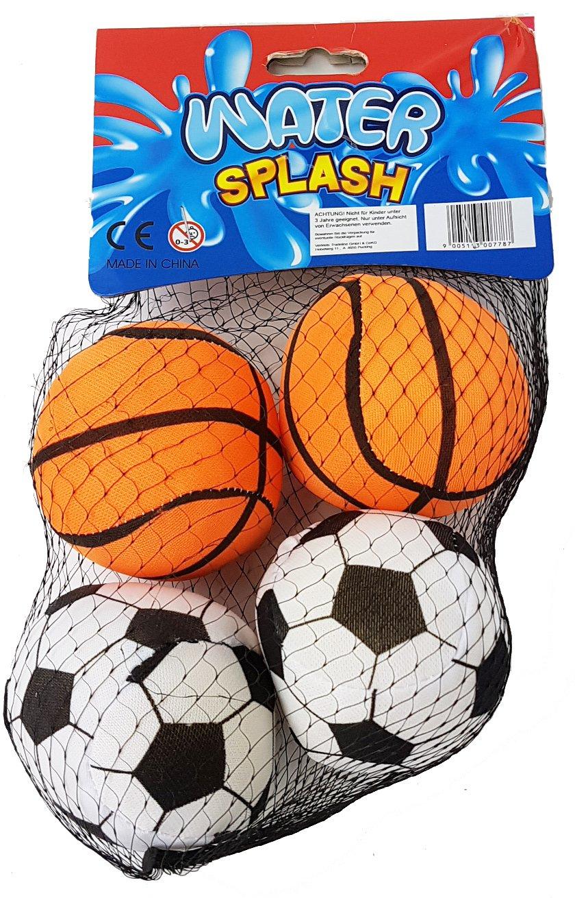 Tradeline 4 Stk Splash Ball für Den Pool Wasserball Oder Wasserbombe 265156