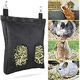 Geegoods Rabbit Hay Feeder Bag, Guinea Pig Hay Feeder Storage ,Hanging Feeding Hay for Small Animals Larege Size 600D Oxford