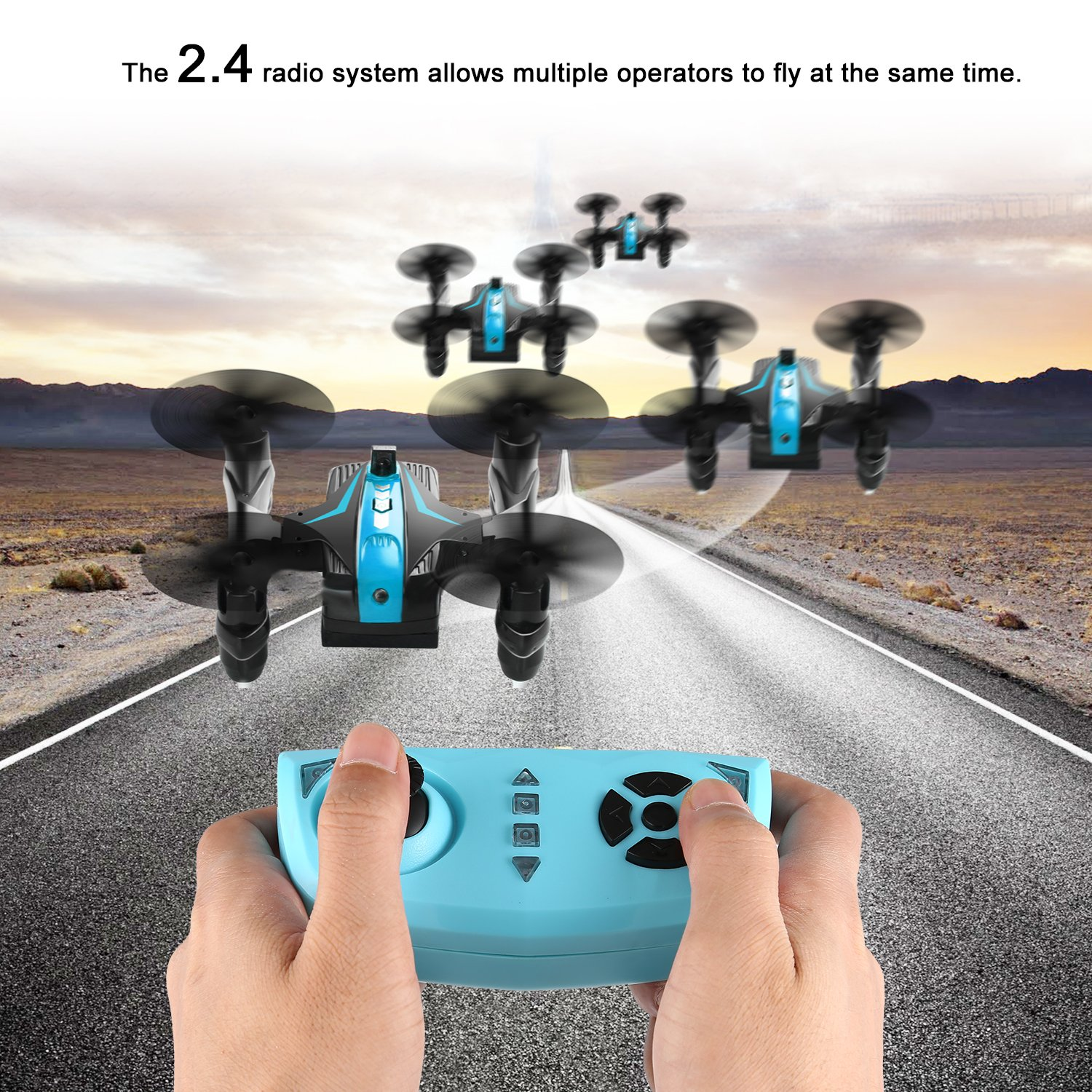 Mini Drone Wars Battle Drones Mini Battle Drones for Air War with 4 Channel and Infrared Fighting Function, Headless Mode and Emergency Stop, Toy Drone for Beginner & Kids Fighting