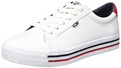 Hilfiger Denim Damen N1385ICE 7A1 Sneaker, Weiß (White), 40 EU