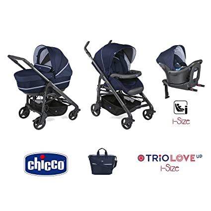 Trio Love up i-size cochecito + portabebés + siège-auto India Ink –
