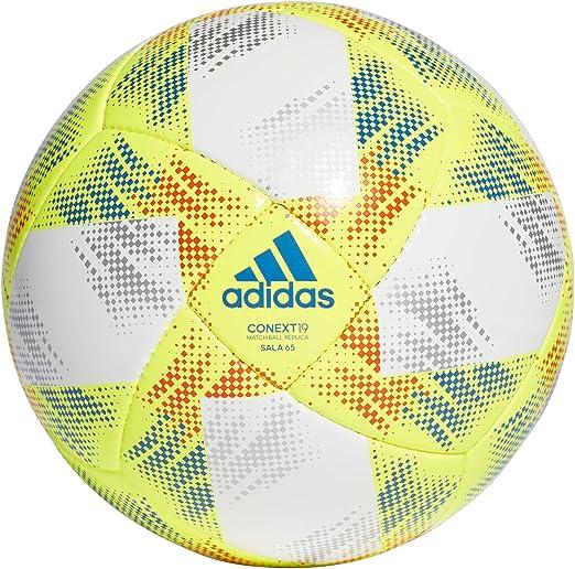 adidas CONEXT19 SAL65 Soccer Ball, Hombre, Top:White/Solar Yellow ...