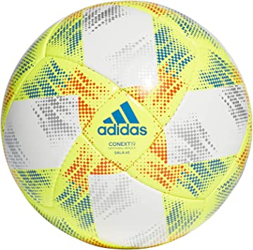 Permeabilidad Serena Electricista  adidas CONEXT19 SAL65 Balón de Fútbol, Hombre, Top:White/Solar Yellow/Solar  Red/Football Blue Bottom:Silver Met, FUTS: Amazon.es: Deportes y aire libre