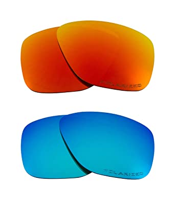 44db61cc9e Image Unavailable. Image not available for. Color  BREADBOX Replacement  Lenses Polarized Blue   Red by SEEK fits OAKLEY Sunglasses