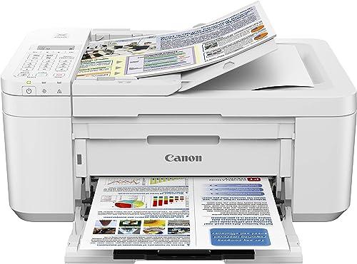 Canon PIXMA TR4520 Wireless All in One Photo Printer with Mobile Printing, White, Amazon Dash Replenishment Ready, One Size