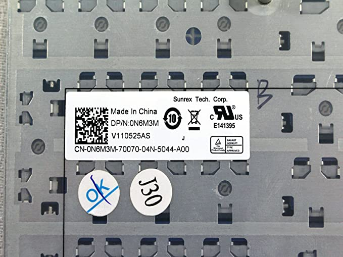 Amazon.com: OEM Dell Inspiron 15R N5010 M5010 V110525AS Traditional Chinese Keyboard N6M3M: Computers & Accessories