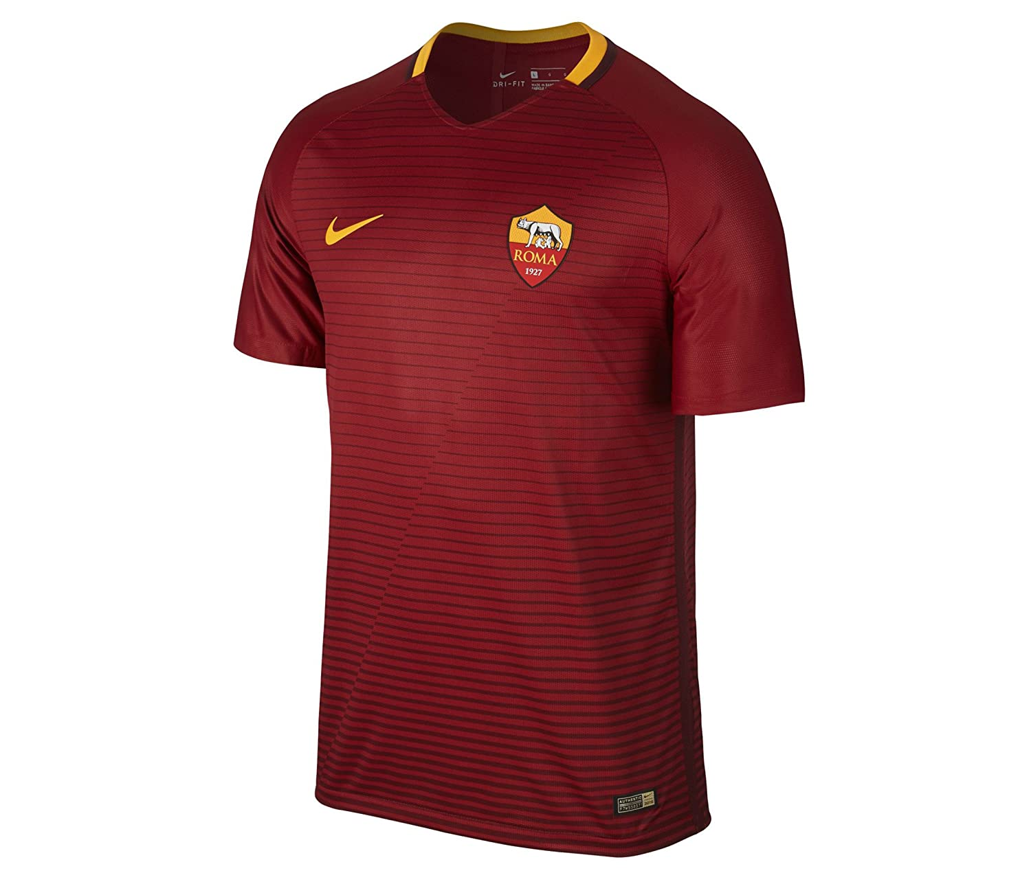 Nike 2016-2017 AS Roma Vapor Home Match Football Soccer T-Shirt Trikot