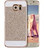 Galaxy S6 Case, Imikoko® Glitter Sparkle Bling Designer Case [Slim Fit, Hard Back Cover] Shinning Fashion Phone Case Cover For Samsung Galaxy S6 5.1' (Gold)