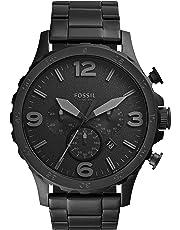 Fossil Herren Analog Quarz Uhr mit Edelstahl Armband JR1401