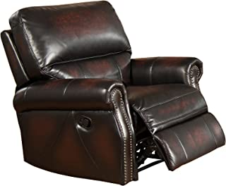 Amax Leather Brooklyn Leather Recliner Burgundy Brown  sc 1 st  Amazon.com & Amazon.com: Amax Leather Churchill 100% Leather Recliner Brown ... islam-shia.org