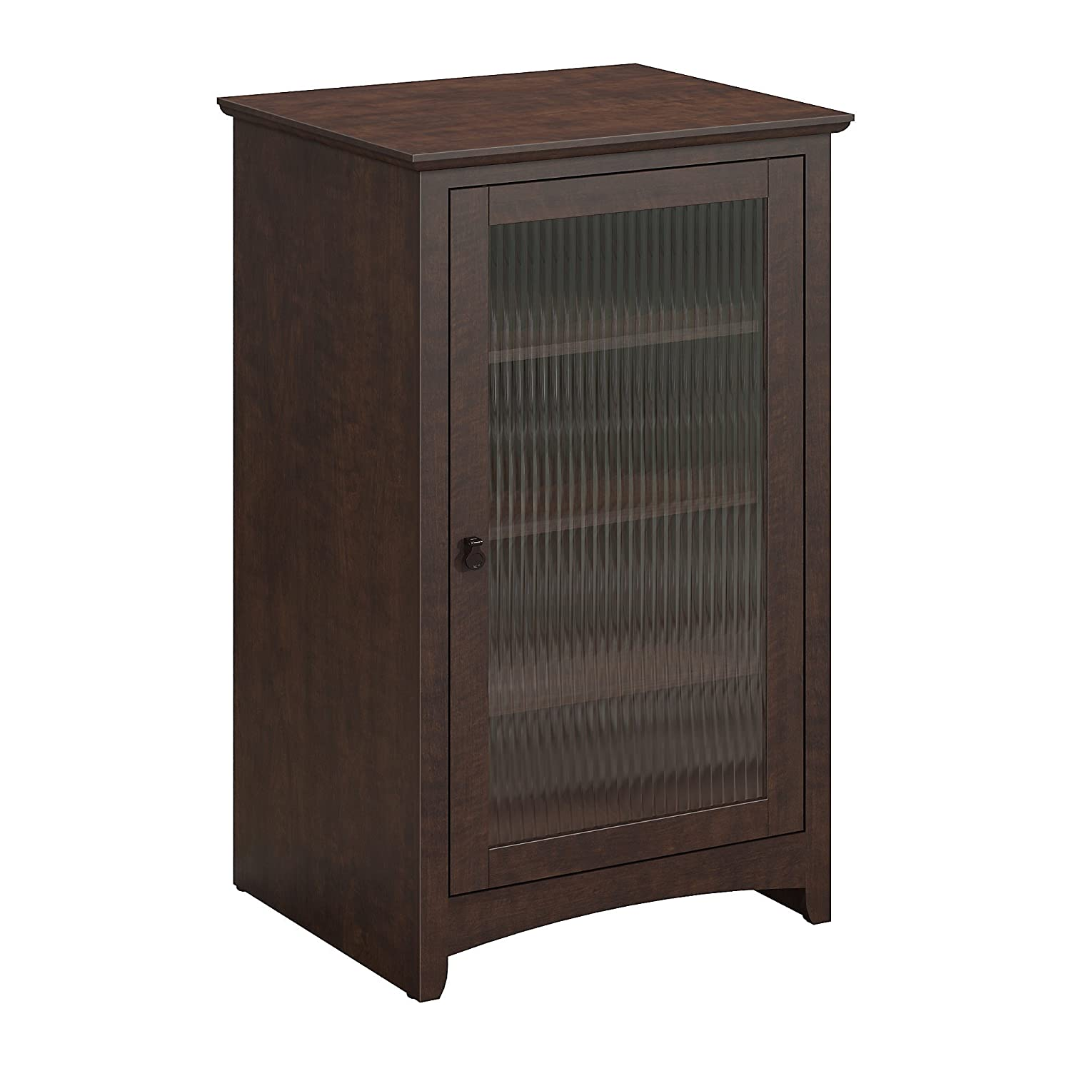 Bush Furniture Buena Vista Media Cabinet in Madison Cherry