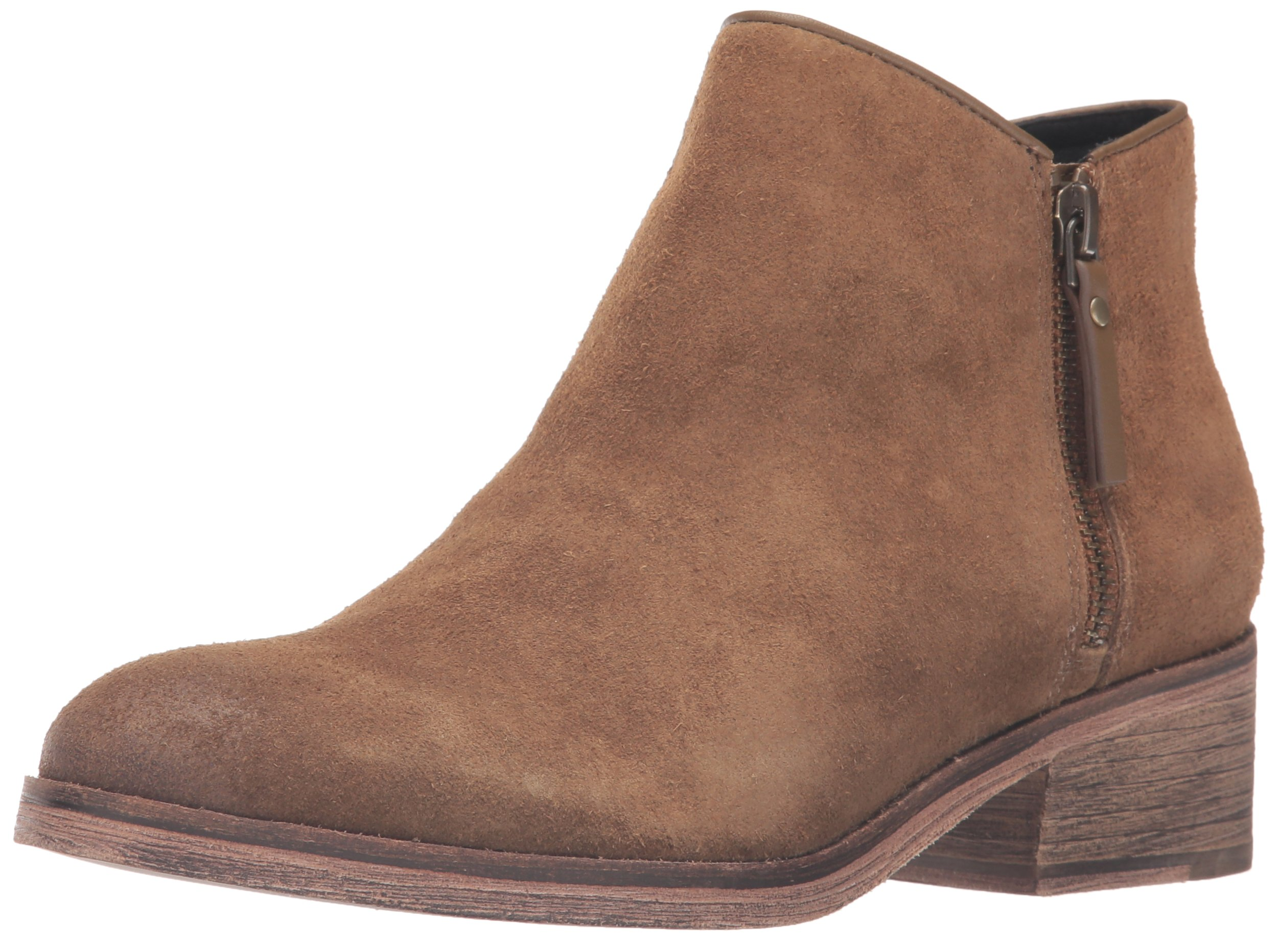 Cole Haan Women's Hayes Flat Ankle Bootie, Olive Suede, 6.5 B US