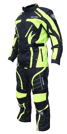 WULF Sport Hi Viz Alpina Enduro Moto Chaqueta + pantalones tamaño L: Amazon.es: Coche y moto