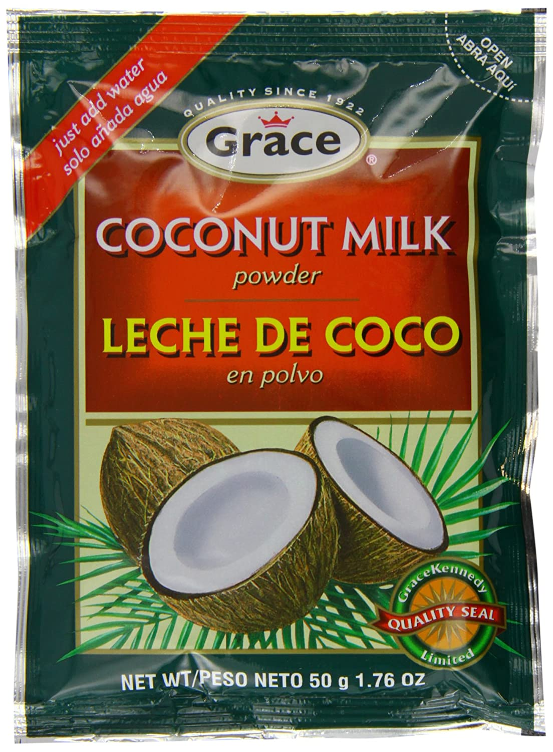 Amazon.com : Grace Coconut Milk Powder 50 g (Pack of 12) : Grocery & Gourmet Food