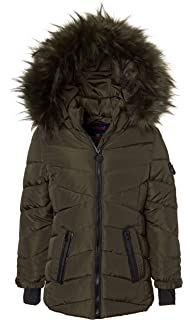 63ade6c82 Amazon.com: Infron IN FRONT Little Girl Winter Warm Down Jacket Faux ...