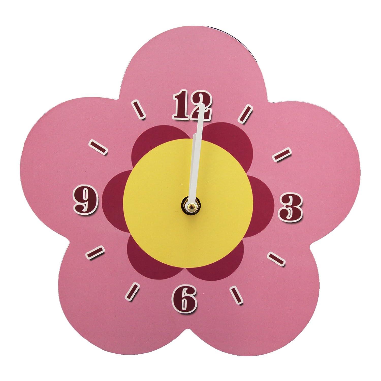 Universal Textiles Childrens/Kids Flower Design Duo Clock (One Size) (Flower) UTMS241_1
