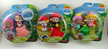 Nickelodeon Bubble Guppies Bath Squirters Set Of 9   Molly, Deema, Frog,  Oona