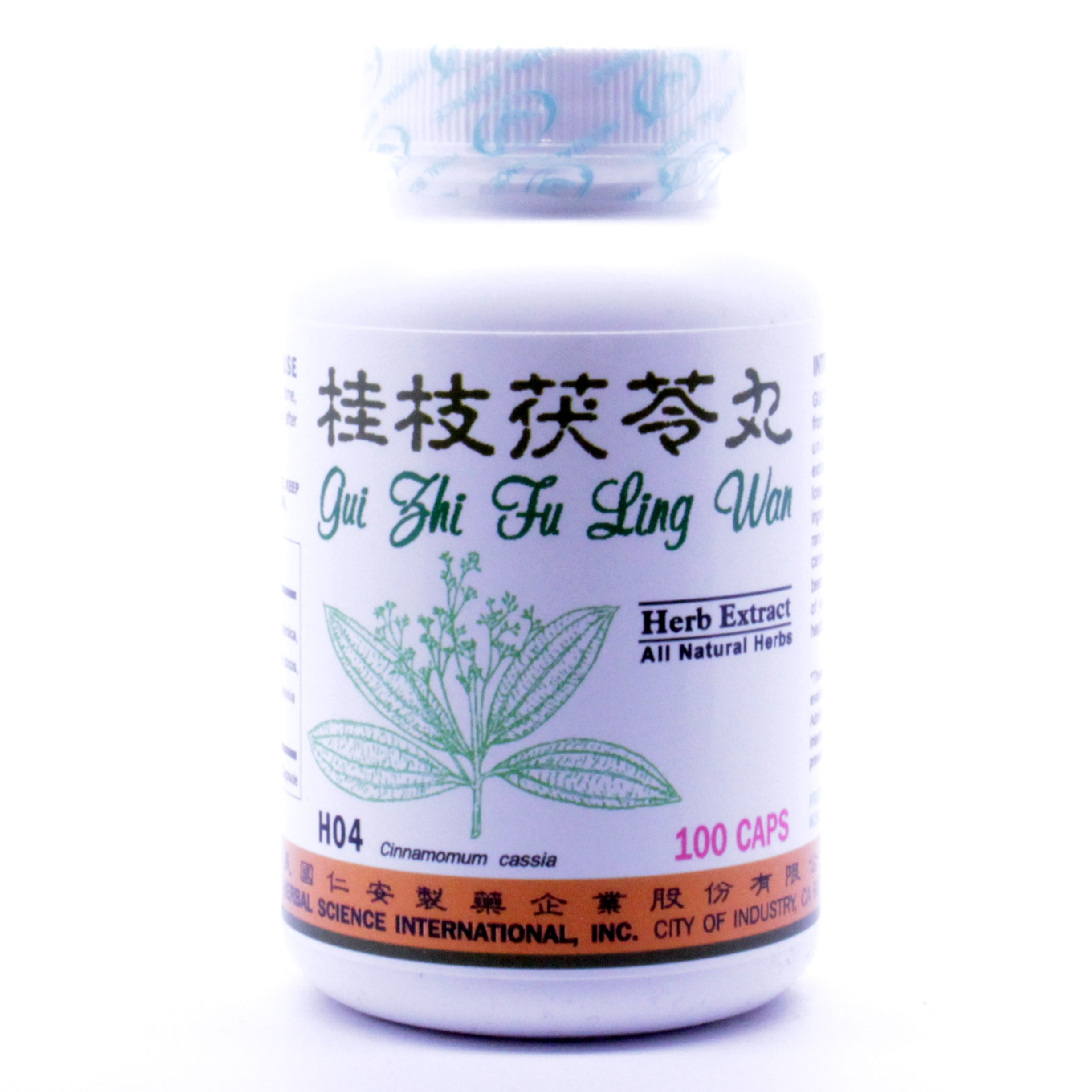 Cinnamon Poria Formula Dietary Supplement 500mg 100 capsules (Gui Zhi Fu Ling Wan,Cinnamon Twing & Poria Pill) 100% Natural Herbs