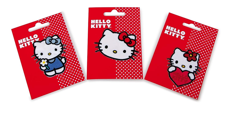 Multicolore Mono Quick Images /à Repasser Hello Kitty Tissu 12.00 x 8.50 x 0.03 cm
