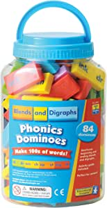 Educational Insights Phonics Dominoes - Blends & Digraphs, Ages 7 and Up, (84 pieces)