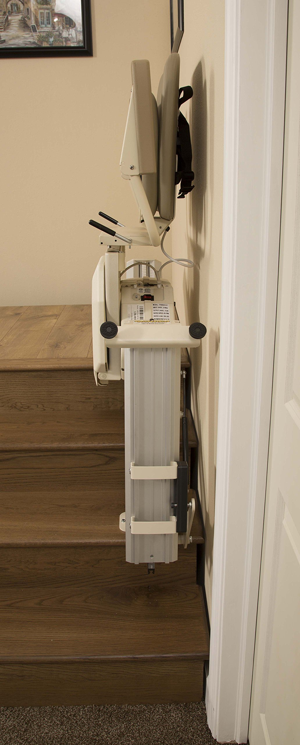 Nautilus Stair Lift with Hinged Rail - Lifetime Warranty on Motor & Circuit Board