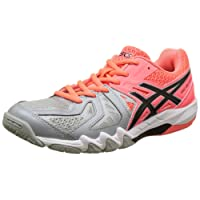 Asics Damen Gel-Blade 5 Handballschuhe, Flash Coral/Black / Mid Grey