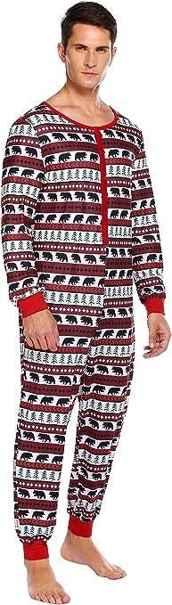 Mens Soft Fleece Onezee Pyjamas City Print Hooded All In One Lounge Nightwear