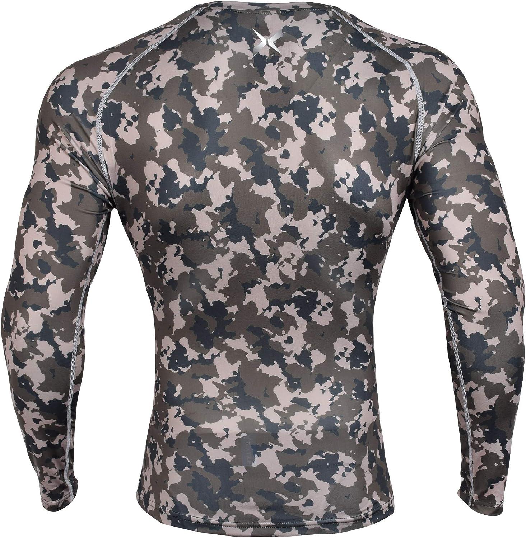 ZHPUAT Men/'s Camo Compression Shirt Cool Dry Long Sleeve Baselayer T-Shirt for Men