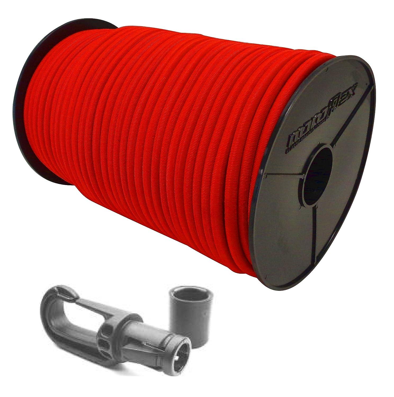 6 mm –  8 mm corda elastica in gomma corda in rosso + moschettone gomma corda guinzaglio teloni Plane