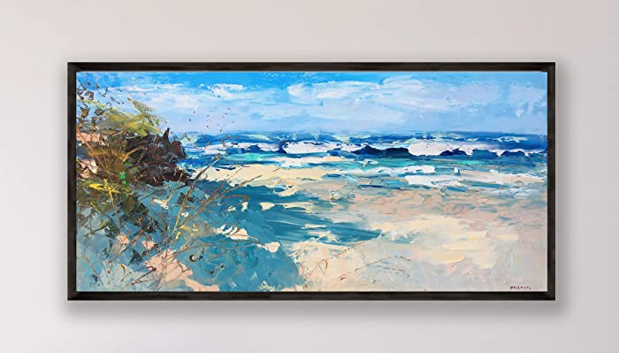 Strange Amazon Com Abstract Beach Painting On Canvas Original Download Free Architecture Designs Embacsunscenecom