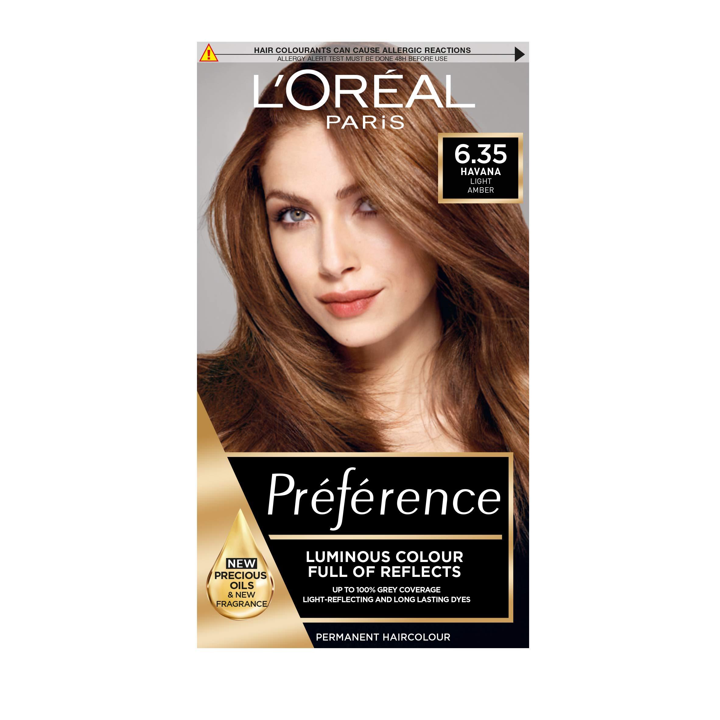 Preference Infinia Hair Dye, 6.35 Havana Golden Mahogany Light Brown