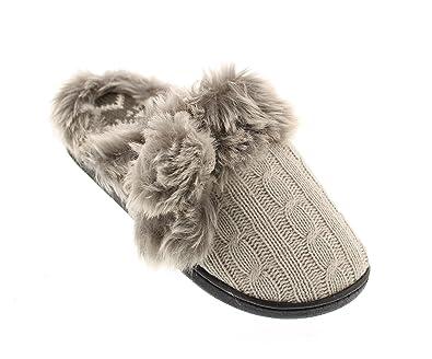 Amazon.com | Gold Toe Women's Allie Cable Knit Fair Isle Memory ...