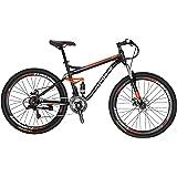 Extrbici S7 マウンテンバイク MTB 自転車 27.5インチ 21変速 前後ディスクブレーキ フルサスペンション 通勤通学用