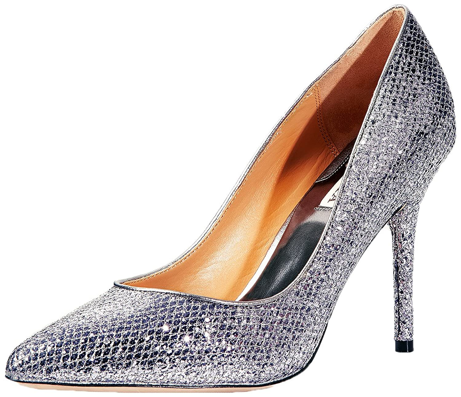 Amazon Badgley Mischka Women s Dulce Pump Smoke Glitter 7 5 M