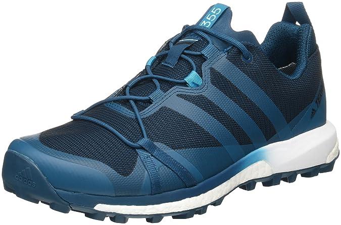 Adidas Terrex Agravic GTX, Zapatillas de Senderismo para Hombre, Varios Colores (Azunoc/Petmis/Ftwbla), 48 EU
