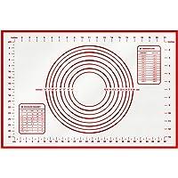 hblife Grand Tapis de Cuisson en Silicone Anti-adhésif Tapis de pâte avec Mesure (60 x 40 cm)