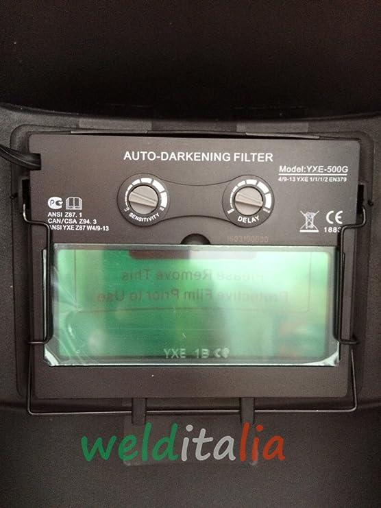 Soldador inverter 150 A welditalia VALIG.Cables 3 + 2 mt. Electrodo Máscara ajustable LCD Ghost 9/13 DIN: Amazon.es: Bricolaje y herramientas