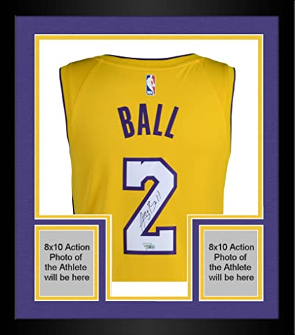 88fad69bde8a Framed Lonzo Ball Los Angeles Lakers Autographed Nike Gold Swingman Jersey  - Fanatics Authentic Certified