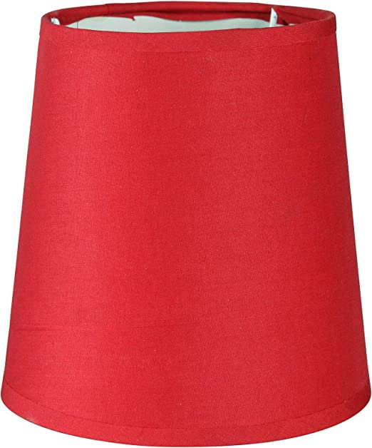 Lumissima Abat jour de forme cylindrique rouge