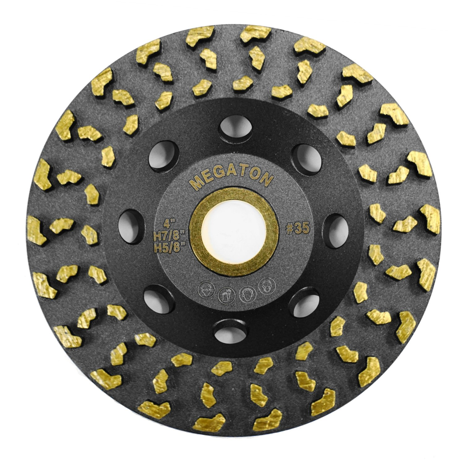Megatron 4'' Diamond Cup Grinding Removing Disc Wheel for Concrete, Paint, Epoxy, Glue and Mastic with CDB Newest Technology (Megatron 4'') by Trenion