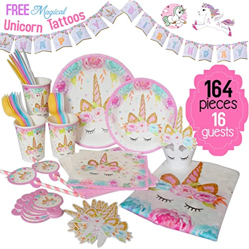 Unicorn Decorations For Birthday Party Amazon Com