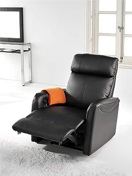 Sillón relax reclinable modelo Gold color negro - SedutaHome