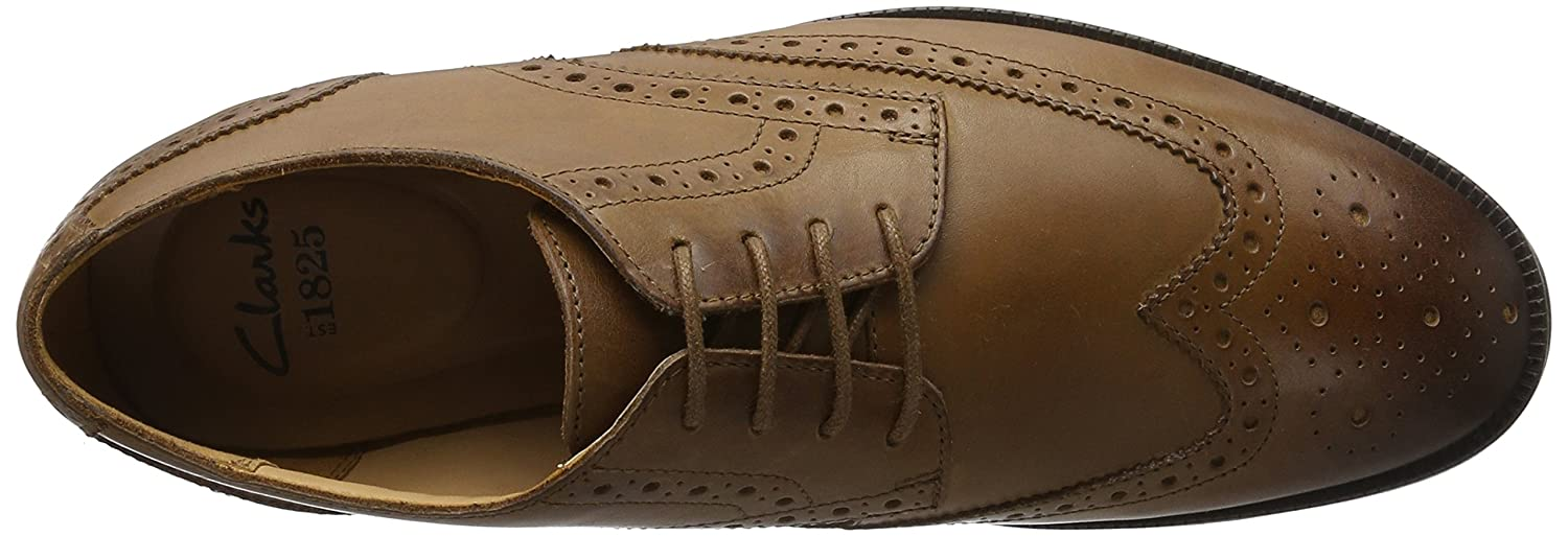 Clarks Herren Broyd Limit Braun Oxford, Schwarz, 39.5 EU Braun Limit (Tan Leder) 260fca