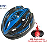 KIDS Bike Helmet – Adjustable from Toddler to Youth Size, Ages 3 To 7 - Durable Kid Bicycle Helmets with Fun Racing Design Boys and Girls will LOVE - CSPC Certified for Safety