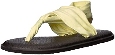 d57be110d62b35 Color  Sanuk Women s Yoga Sling 2 Solid Vintage Flip-Flop Yellow pear 05 ...