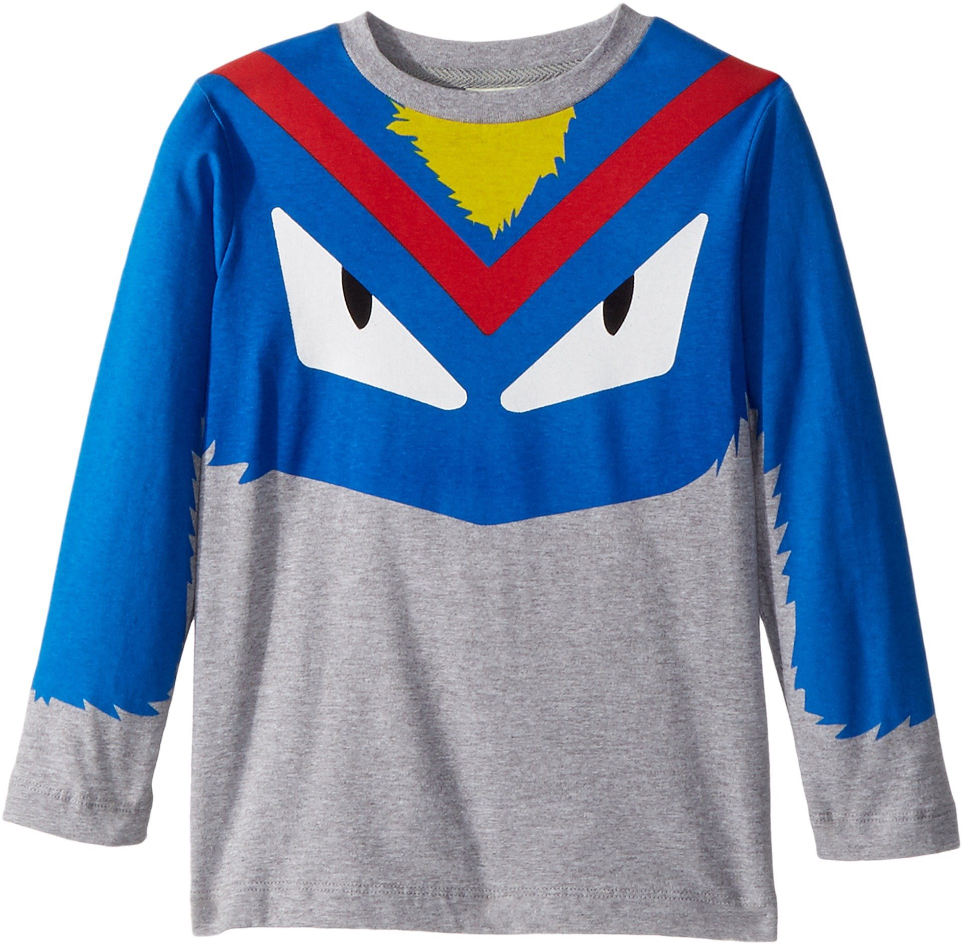Fendi Kids  Boy's Long Sleeve Monster Eyes Graphic T-Shirt (Little Kids) Grey/Multi 4  Years by Fendi Kids