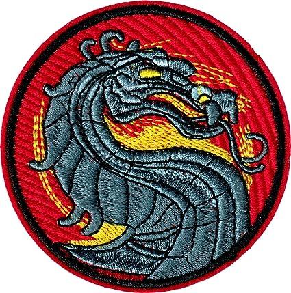 Amazon Mortal Kombat Dragon Logo Iron Sew On Patch Applique