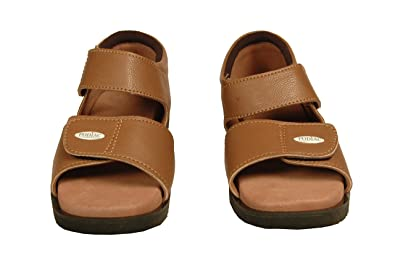 7f7b4f596fa Image Unavailable. Image not available for. Colour  PODIAC ELITE PLUS BROWN  RUBBER CASUAL SANDAL FEMALE