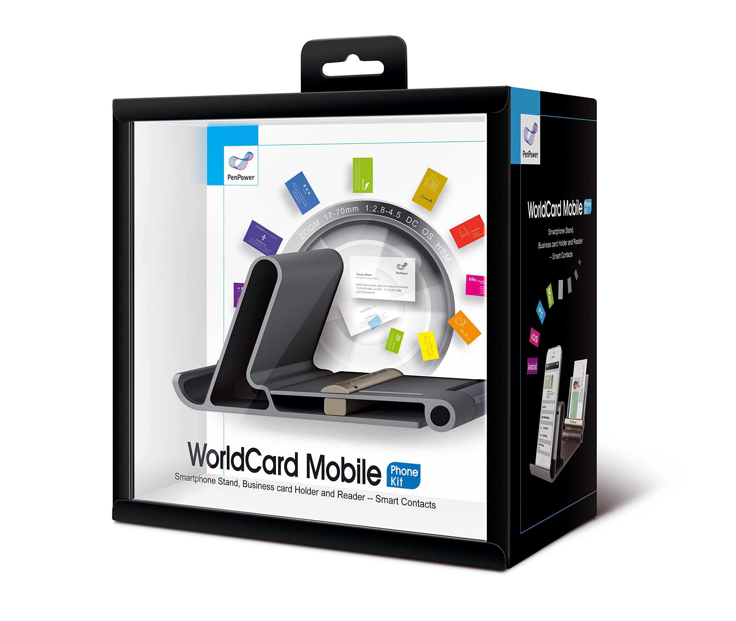 PenPower WorldCard Mobile Phone Kit Business - Card Reader and Phone Stand